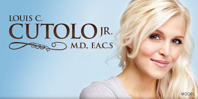 blonde model smiling hero image