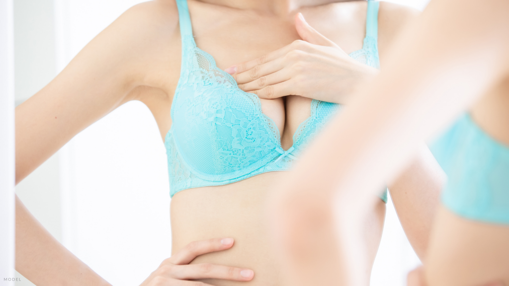 Woman considering breast lift in Staten Island, NY.